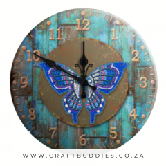 Butterfly Diamond Painting Clock