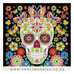 Diamond Painting Glow In Dark Sugar Skull