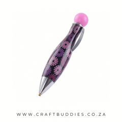 CB-Pen-DDP-Bullet-Black with Pink-Purple flower