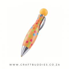 CB-Pen-DDP-Bullet- Yellow with Polka dots